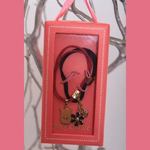 Juicy Couture Elastic Hair Band with Charms